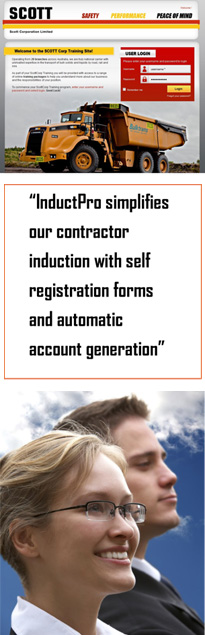 Online Contractor Information with InductPro
